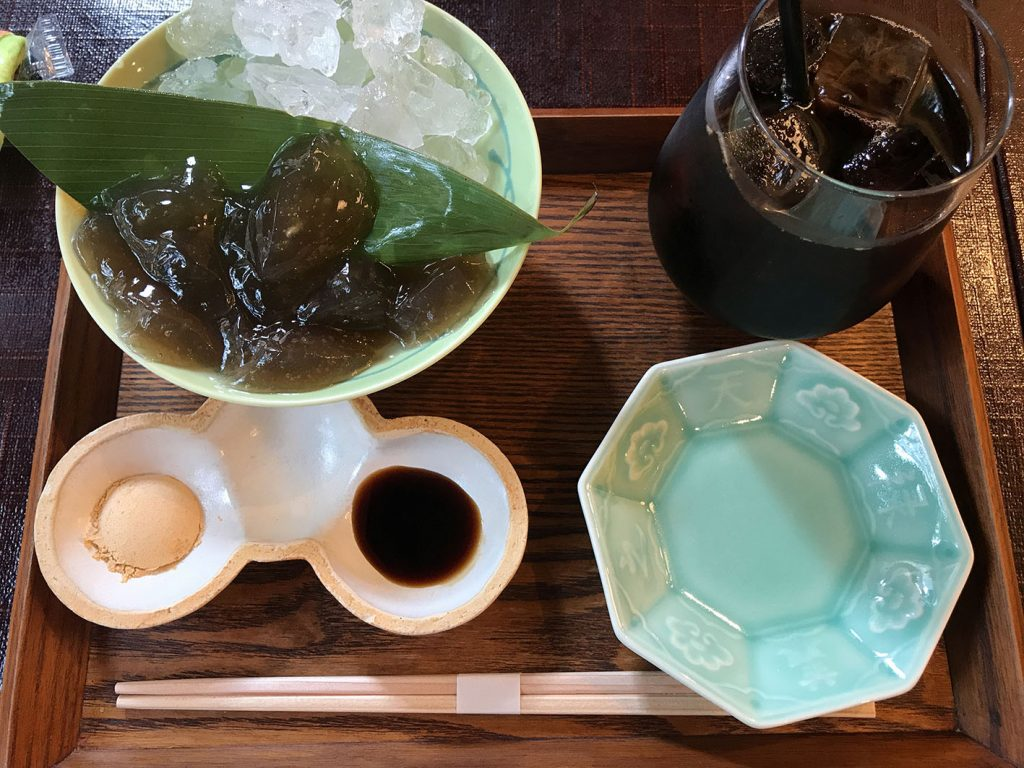 わらび餅コーヒーセット
