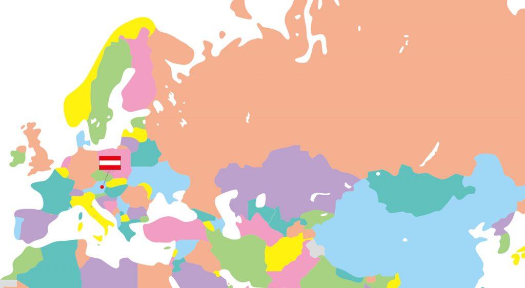 地図オーストリア