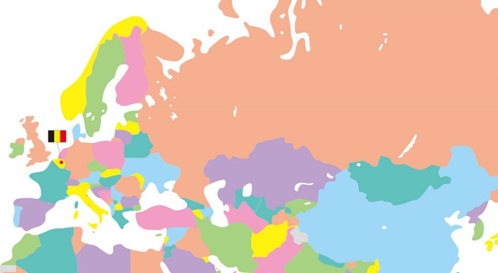 地図ベルギー